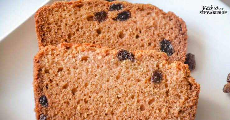 Gluten Free bread can be easy! Try this simple and delicious gluten free raisin bread. Easy to make without just a few simple ingredients!