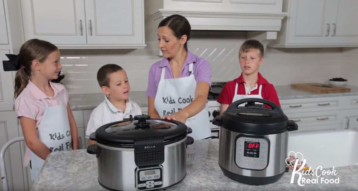 Kids make dinner with the Instant Pot and slow cooker!