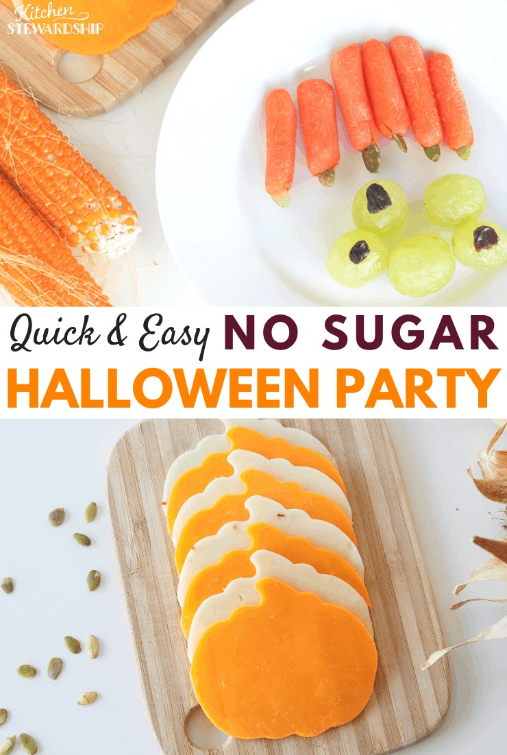 Quick & Easy NO SUGAR Elementary School Halloween Party Ideas