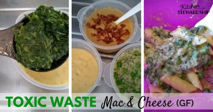 Halloween themed \'toxic waste\' mac and cheese