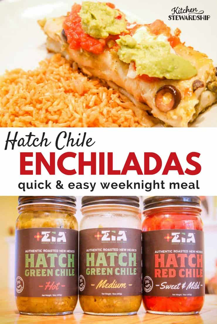 hatch chili enchiladas