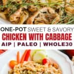 One-Pot Sweet & Savory Chicken with Cabbage Recipe - total real food deliciousness from our family to yours! #whole30 #paleo #grainfree #cleaneatingrecipes #realfood