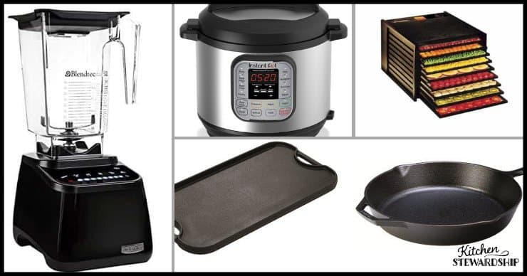foodie gifts for Christmas: blender Instant Pot griddle dehydrator cast iron