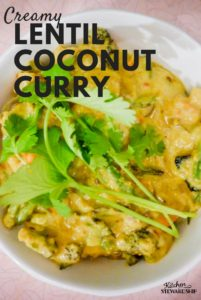 Creamy Lentil Coconut Curry Recipe + Easy Ways to use Roasted Vegetables