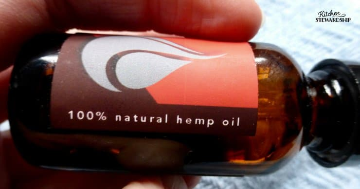 Bottle of CBD oil