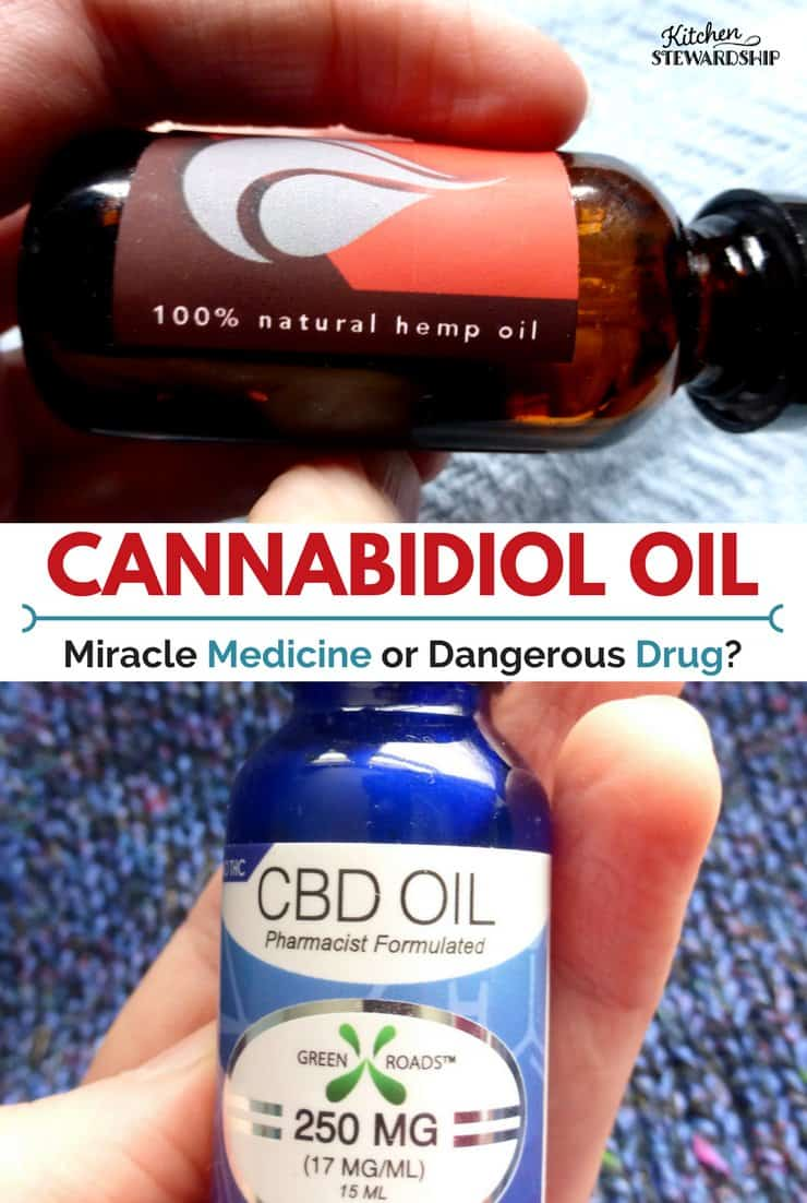 Bottles of CBD oil.