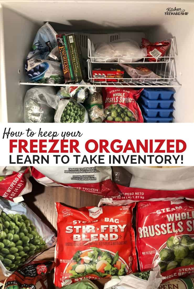 Organized freezer and frozen vegetables using an inventory system