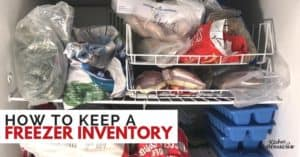 How to Do a Freezer Inventory to Stay Organized