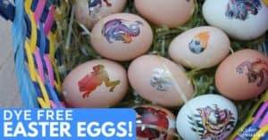 No Mess, No Food Coloring Easter Egg Decorating