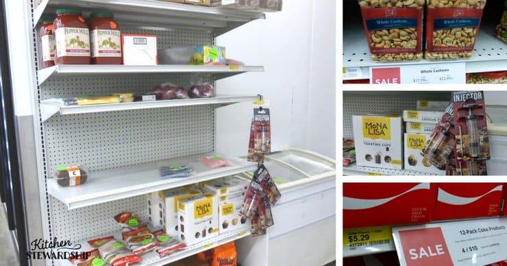 Bargain aisle at Gordon Food Service.