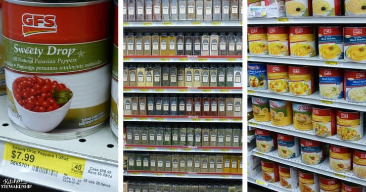 Canned food, herbs and seasonings at Gordon Food Service.