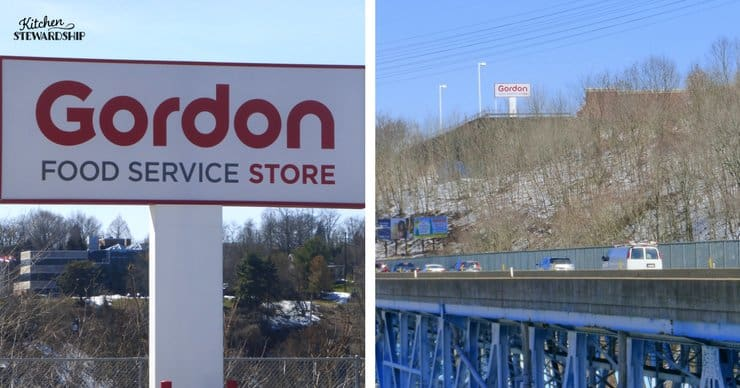 Gordon food service store sign.