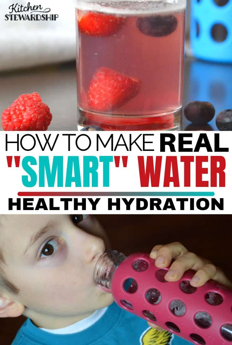 Homemade smart water the whole family will enjoy. Get your kids to drink more water with this easy and nutritious drink. #drinks #kidsdrinks