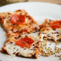 Healthy (Almost) 100% Whole Grain Buckwheat Gluten-Free Pizza Recipe (corn-free, no yeast, no gums!)
