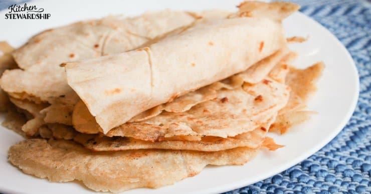 Piles of soft, delicious homemade gluten-free tortillas.