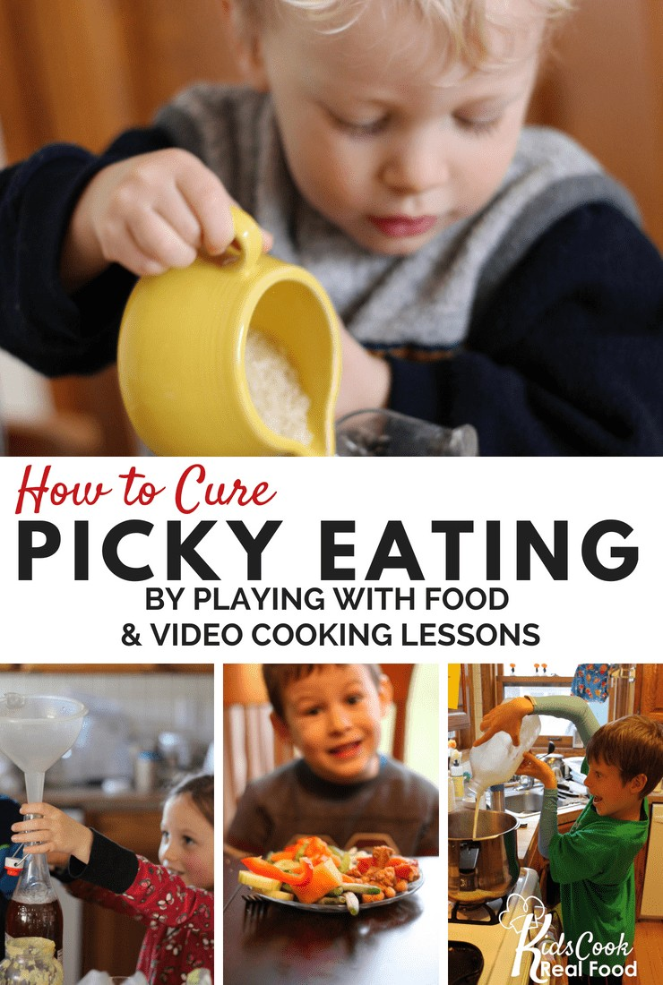 How to Cure Picky Eating by Playing with Food and Video Cooking Lessons
