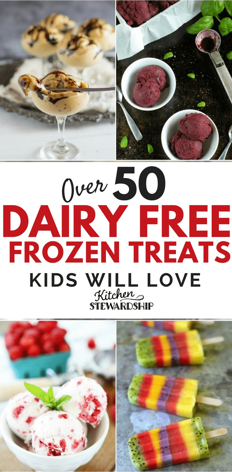 Dairy free ice cream, sorbet and Popsicles