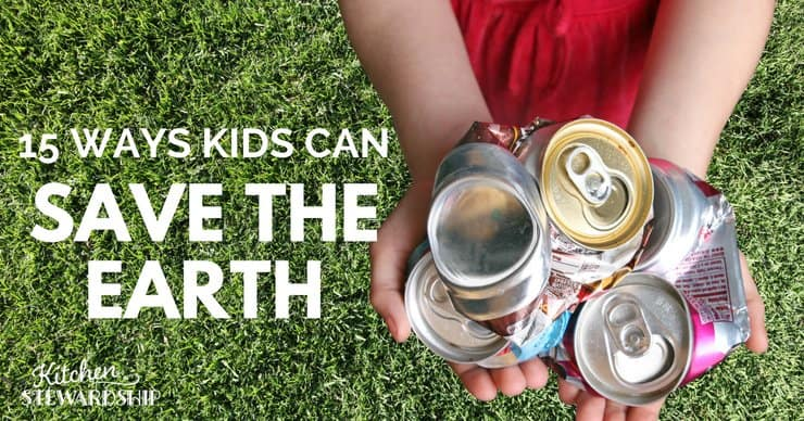 Kid holding crumbled up soda cans.