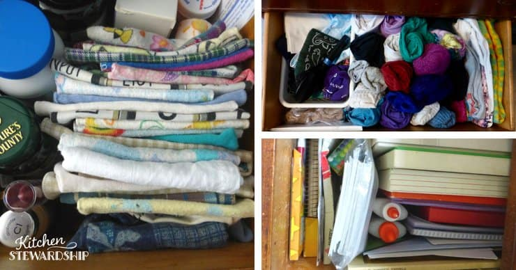 Stocking clothes and books creatively on shelves will help make more space.