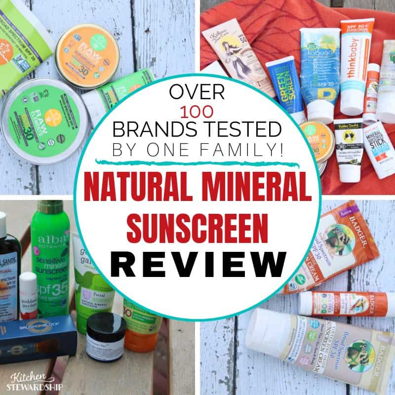natural mineral sunscreen review