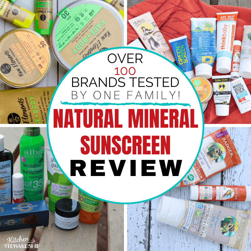 Natural Mineral Sunscreen Reviews