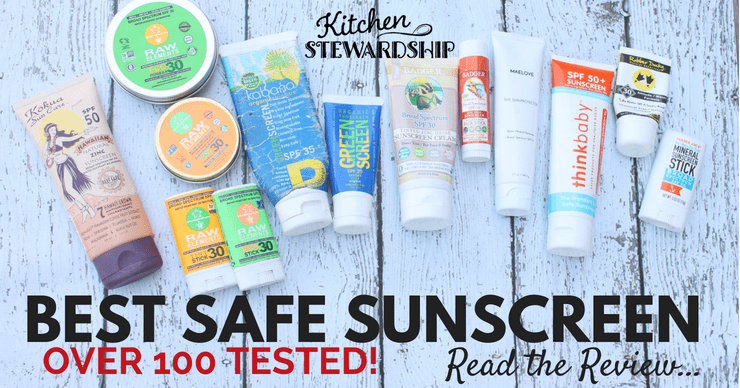 Over 100 Natural Sunscreens Reviewed!