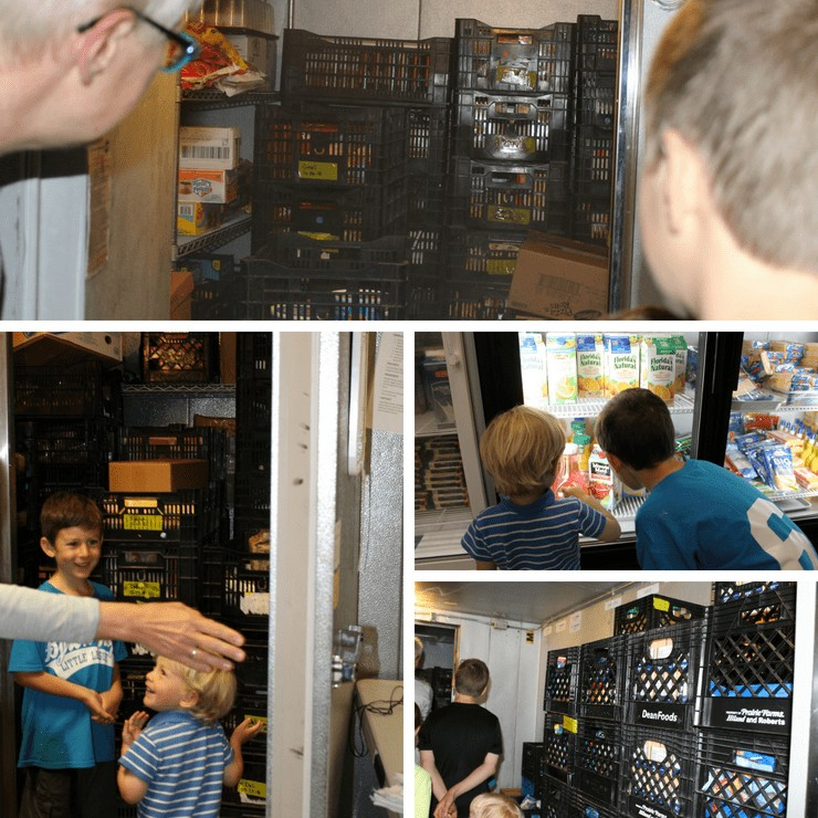 fridge and freezer space at Buist food pantry