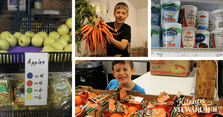healthy food available at local food pantry