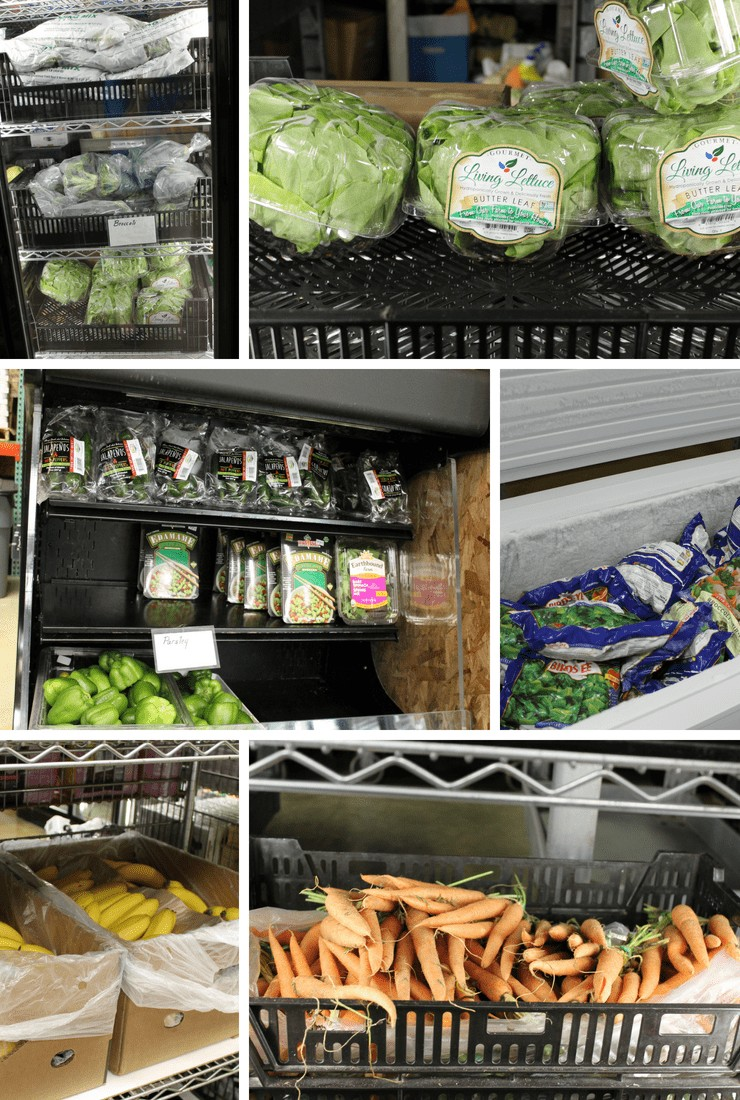 so much healthy food at local food pantry
