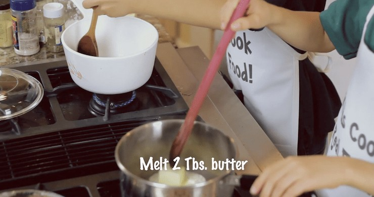how to make a roux - melt the butter