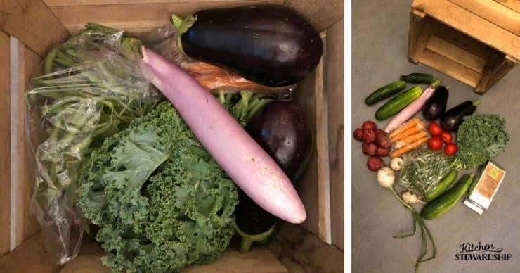 CSA box vegetables
