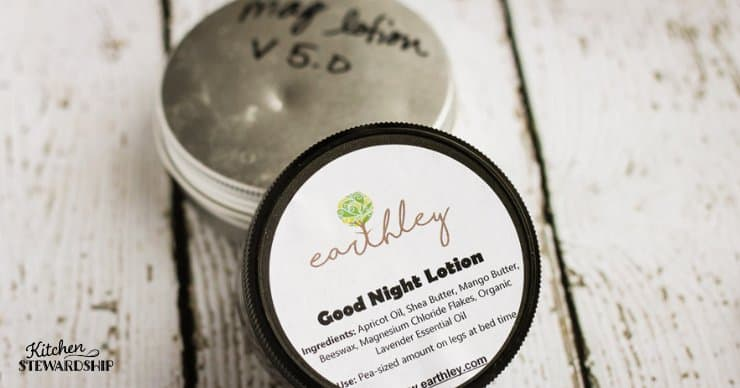 Earthley good night lotion