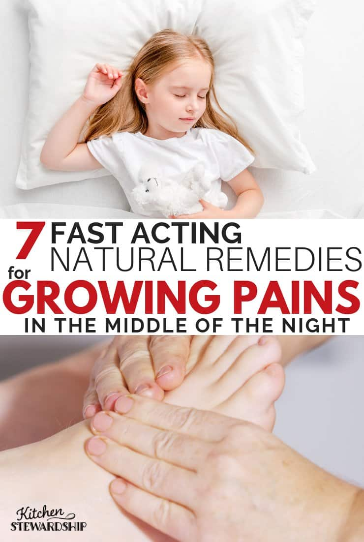 7 Fast Acting Natural Remedies for Growing Pains in the Middle of the Night