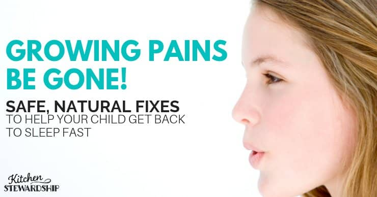 Tips for helping with growing pains. Quick and easy enough for middle of the night relief.
