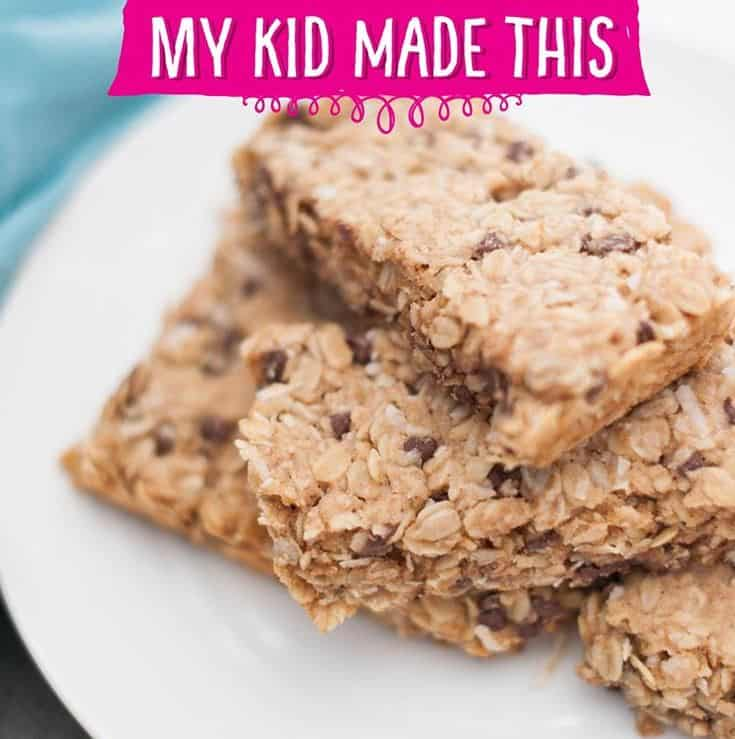 healthy homemade granola bars made by kids