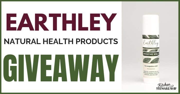 Earthley Natural Health Products {Giveaway}
