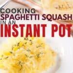 cooked spaghetti squash in a bowl.