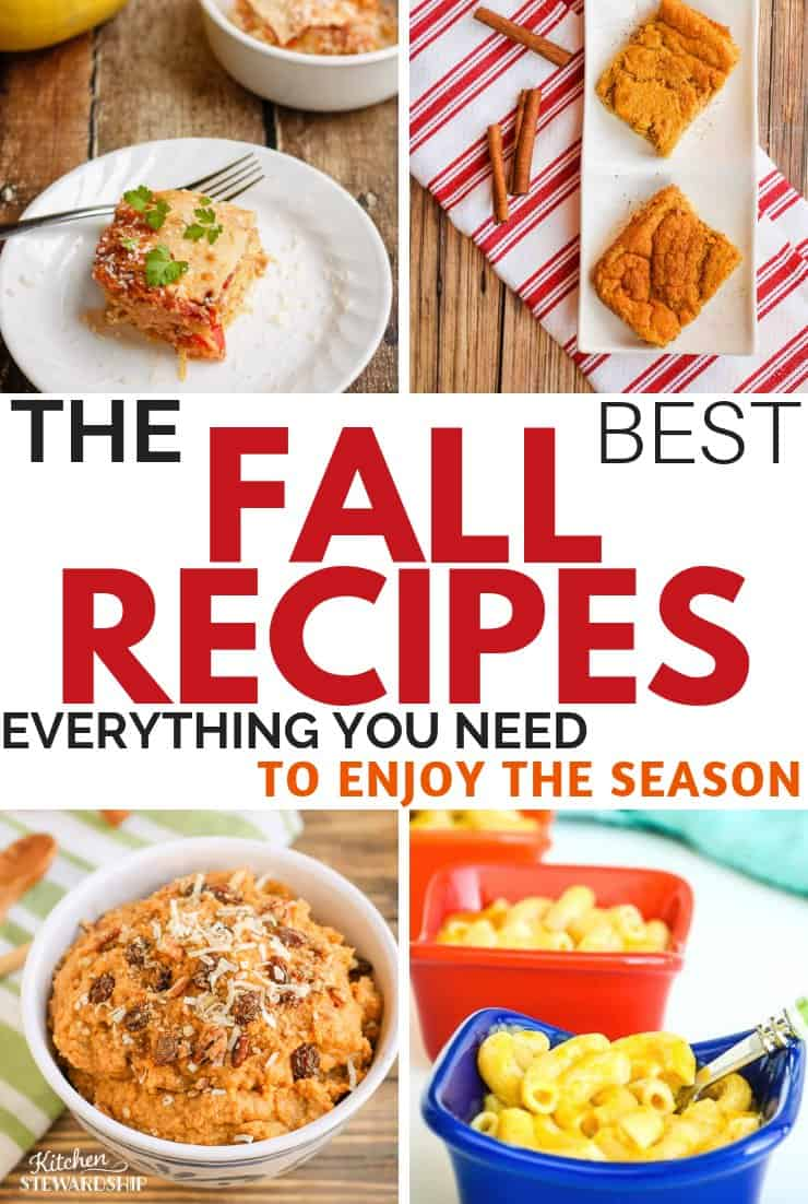 All the fall recipes you'll need this season.