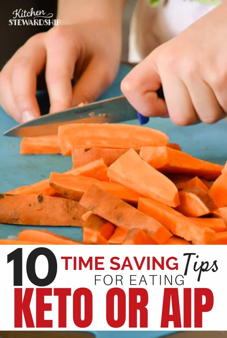 Cutting sweet potatoes