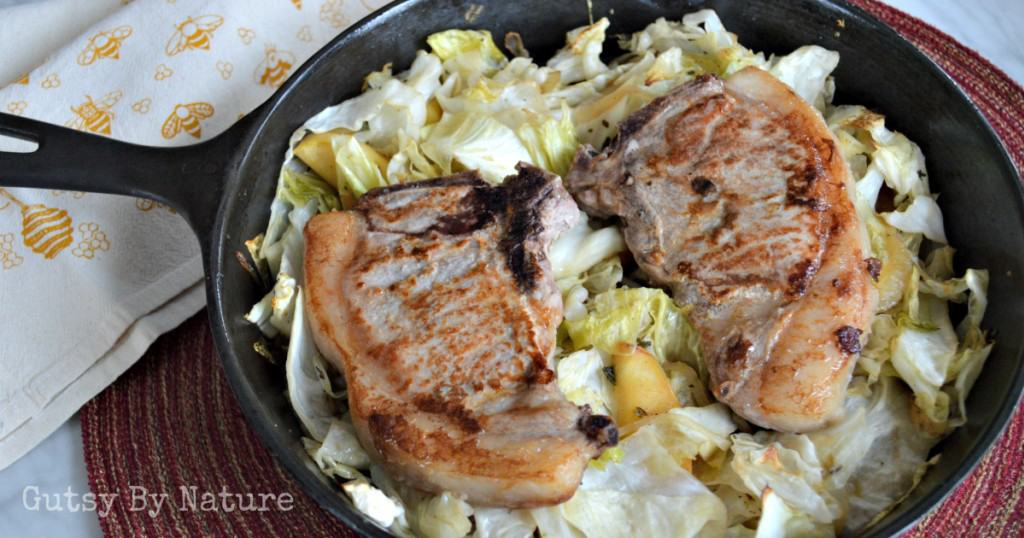 One pan pork chops with cabbage recipe
