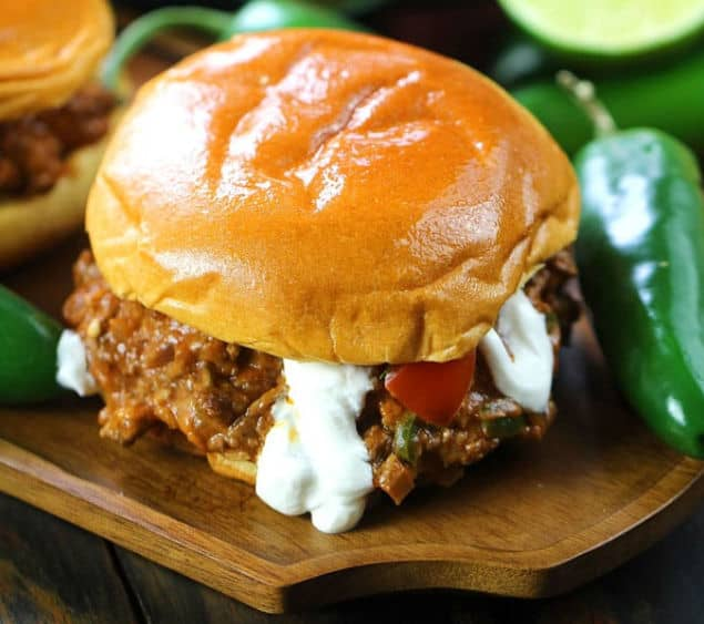 Taco sloppy joe sandwich