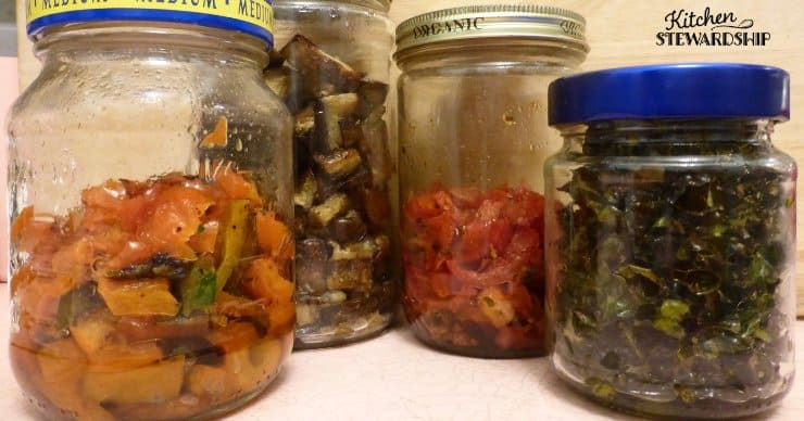 jars of healthy precooked vegetables
