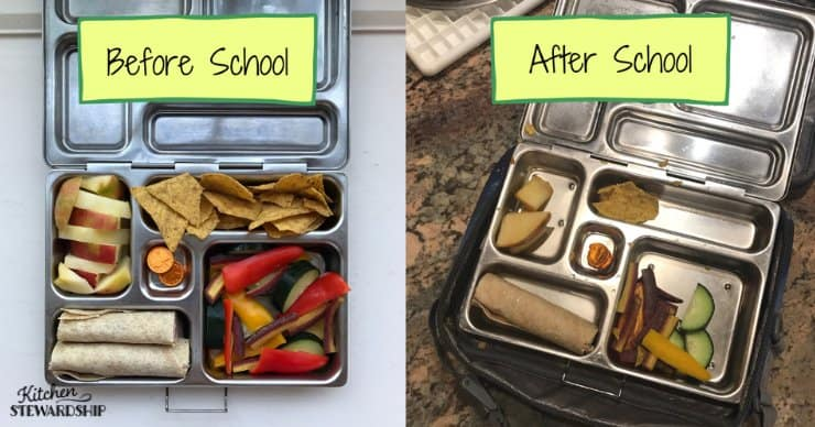 packed school lunches
