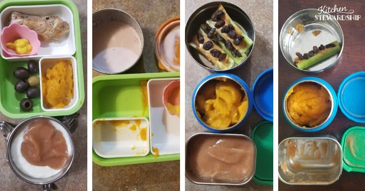 before and after lunchbox photos