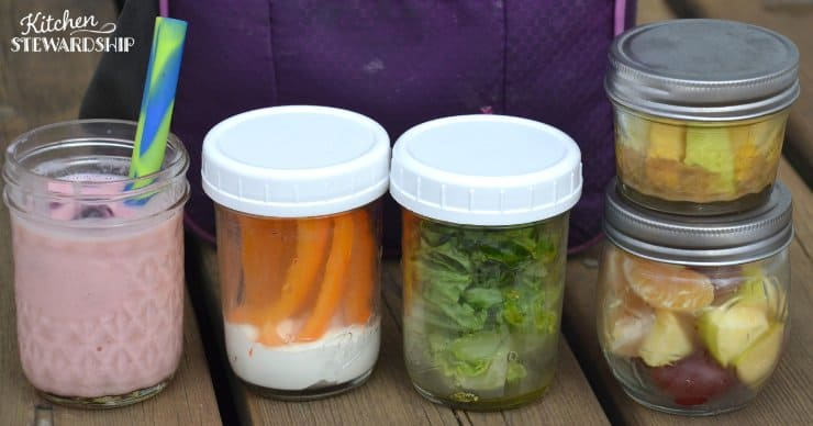 Mason jar lunches kids can make