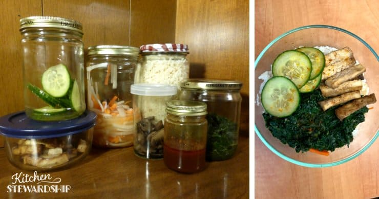 make ahead vegetarian meal bowl