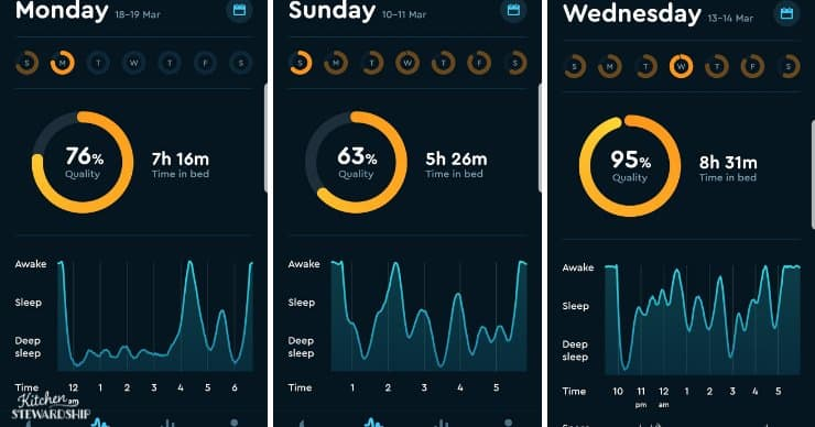 tracking sleep with sleep cycle app