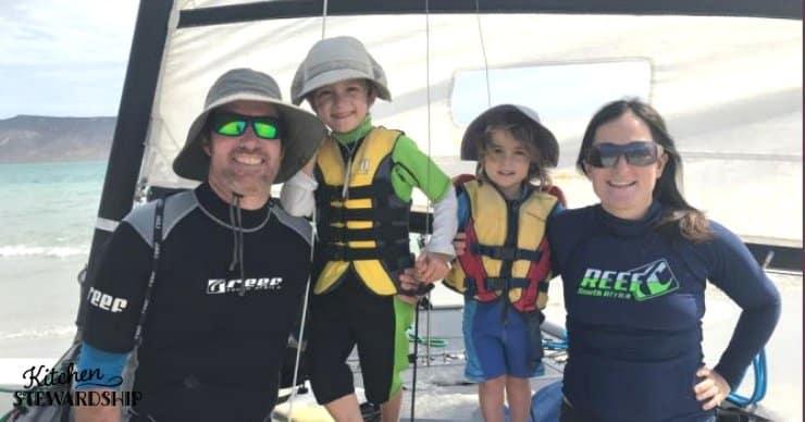 Cerullo Family on a boat