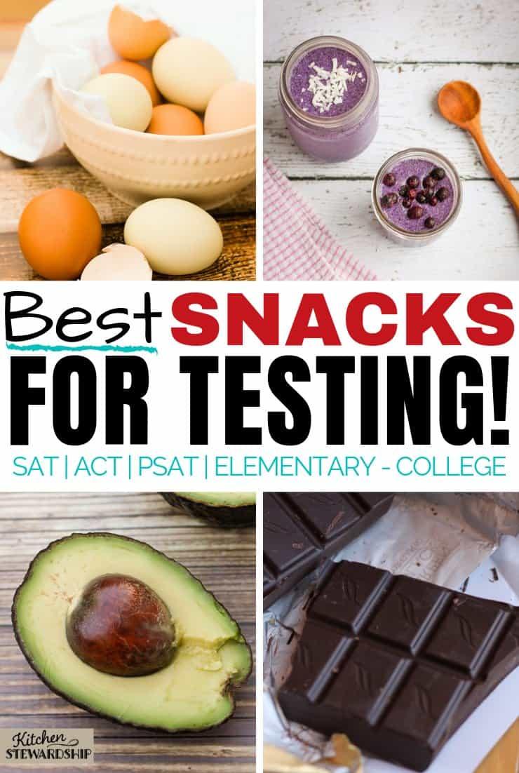 best snacks for testing