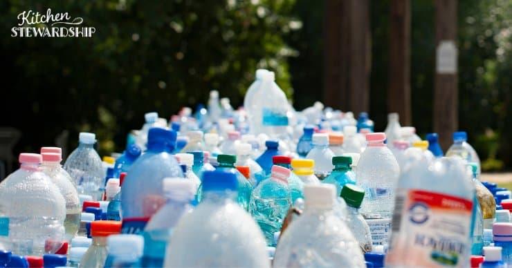 A sea of single-use plastic bottles